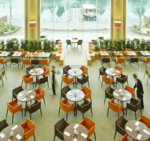 ホテルオークラJRハウステンボスの朝食リフレッシュできるスペース