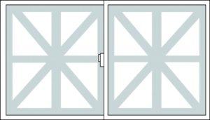 養生テープを窓ガラスに貼り付けた時のイメージ