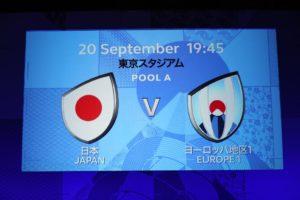 ラグビーワールドカップ2019 日本対ヨーロッパ地区代表に確定