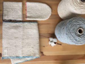 ガラ紡機で紡いだファミリー入浴セット