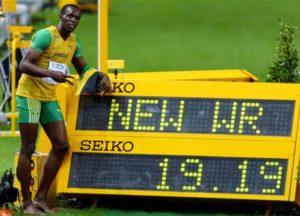 2009年 ウサイン・ボルト(ジャマイカ)19秒19 ベルリン(ドイツ)