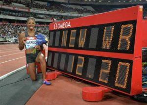 2016年 ケンドラ・ハリソン(アメリカ)12秒20 ロンドン(イギリス)