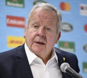 国際統括団体ワールドラグビー(WR)の ビル・ボーモント会長