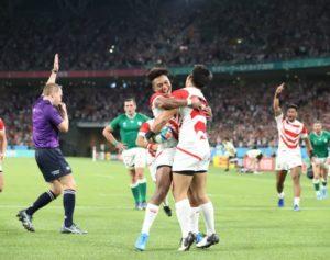 日本代表チーム(世界ランク9位)アイルランド(世界ランク2位)に勝つ19-12