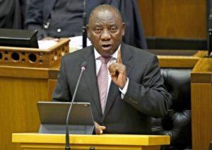決勝に合わせ、南アフリカのシリル・ラマポーザ大統領が来日