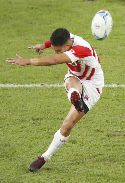 1次リーグ A組 日本 勝ち点14 38-19 勝ち点5 サモア