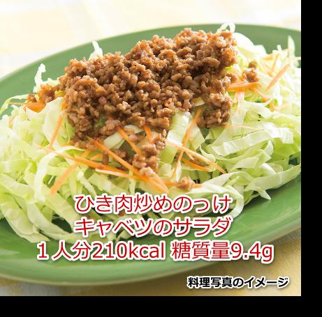 ひき肉炒めのっけキャベツのサラダ