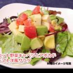 カット野菜キャベツとアボカド、トマト洋風サラダ