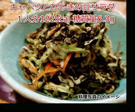 キャベツとひじきの豆サラダ