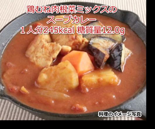 鶏むね肉根菜ミックスのスープカレー